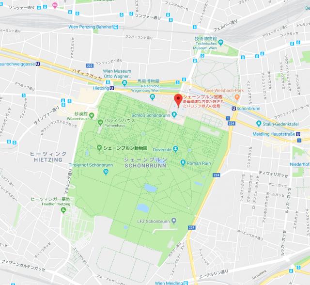 ウィーン シェーンブルン宮殿 地図