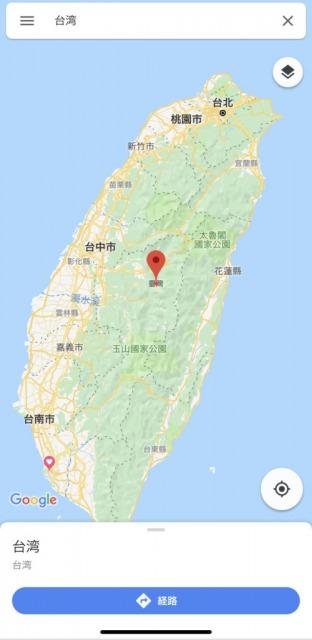 台湾のバス乗り場の地図