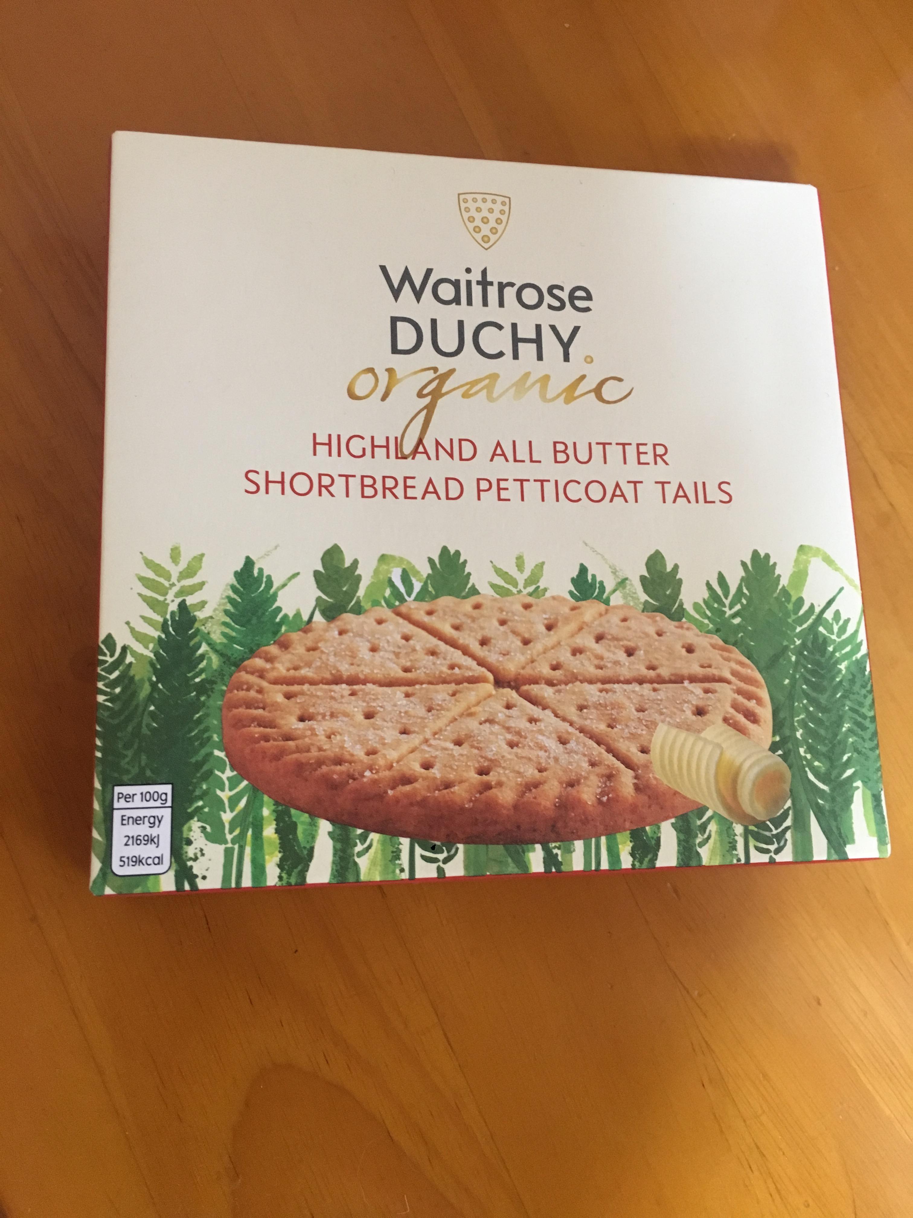 オーガニックのショートブレッド・Duchy Originals