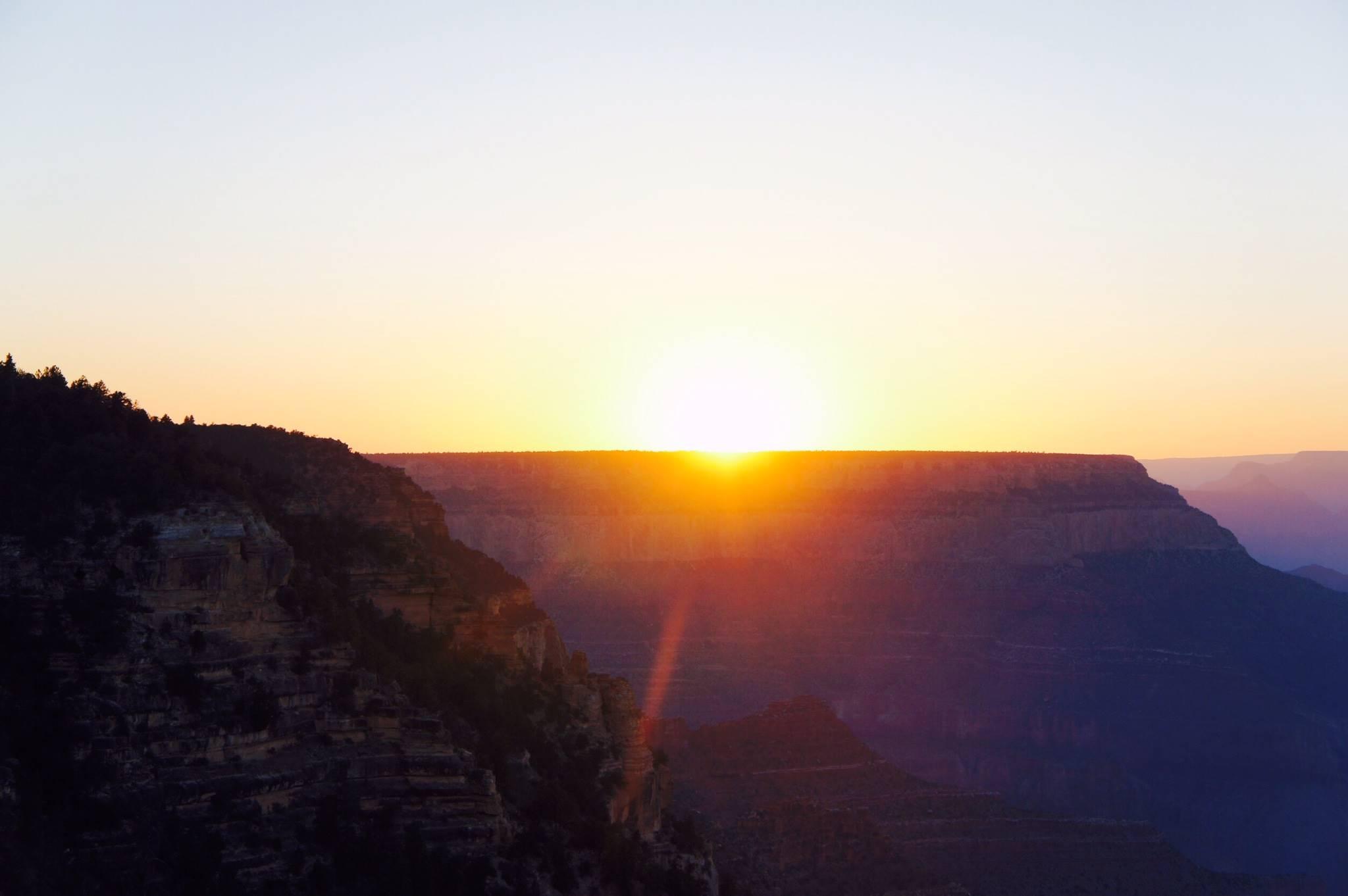 アンテロープキャニオンからの夕日