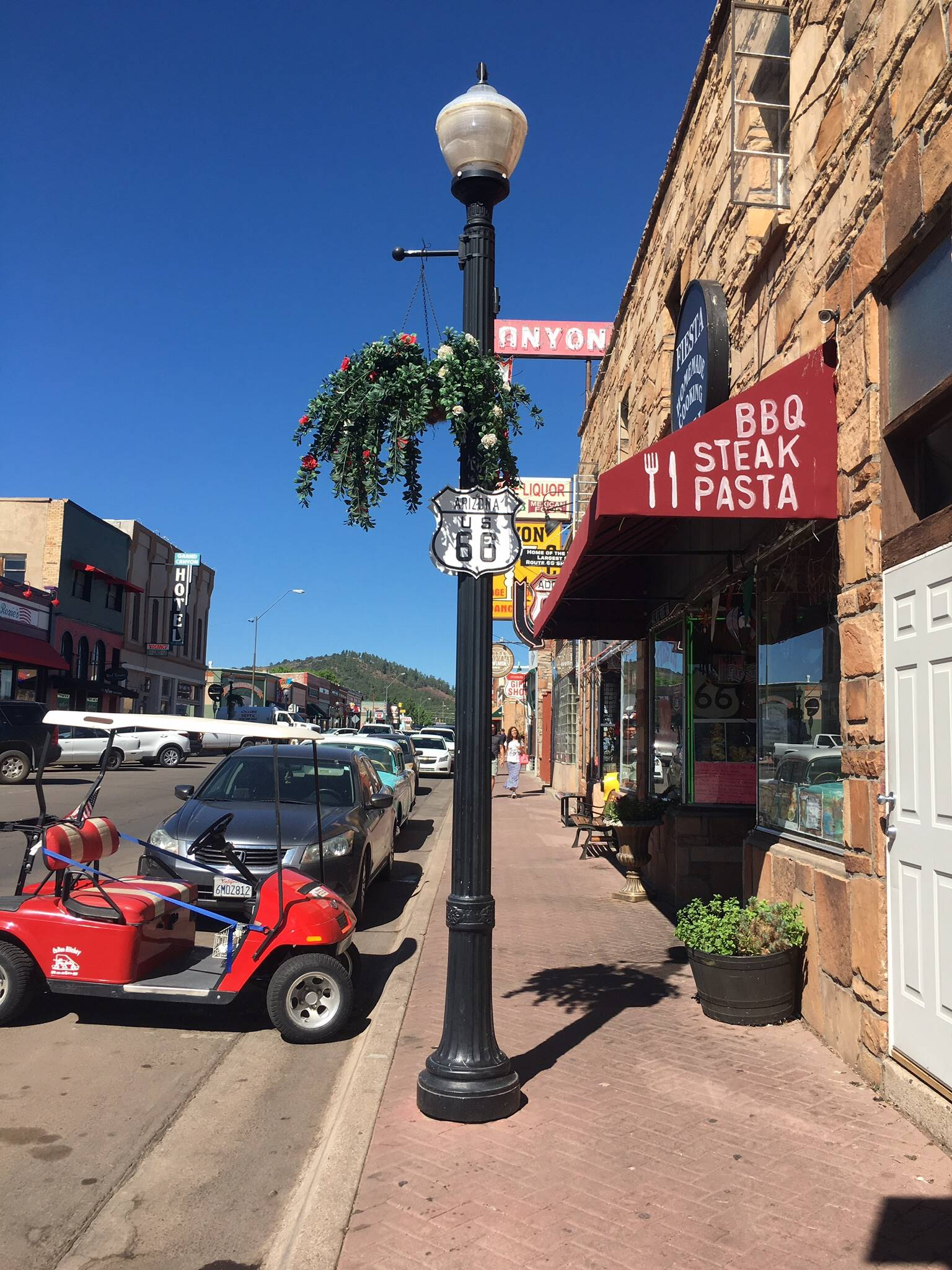 Route66の街灯