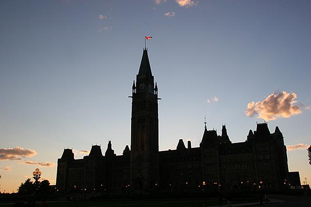 カナダ オタワ 国会議事堂 ナイトショー