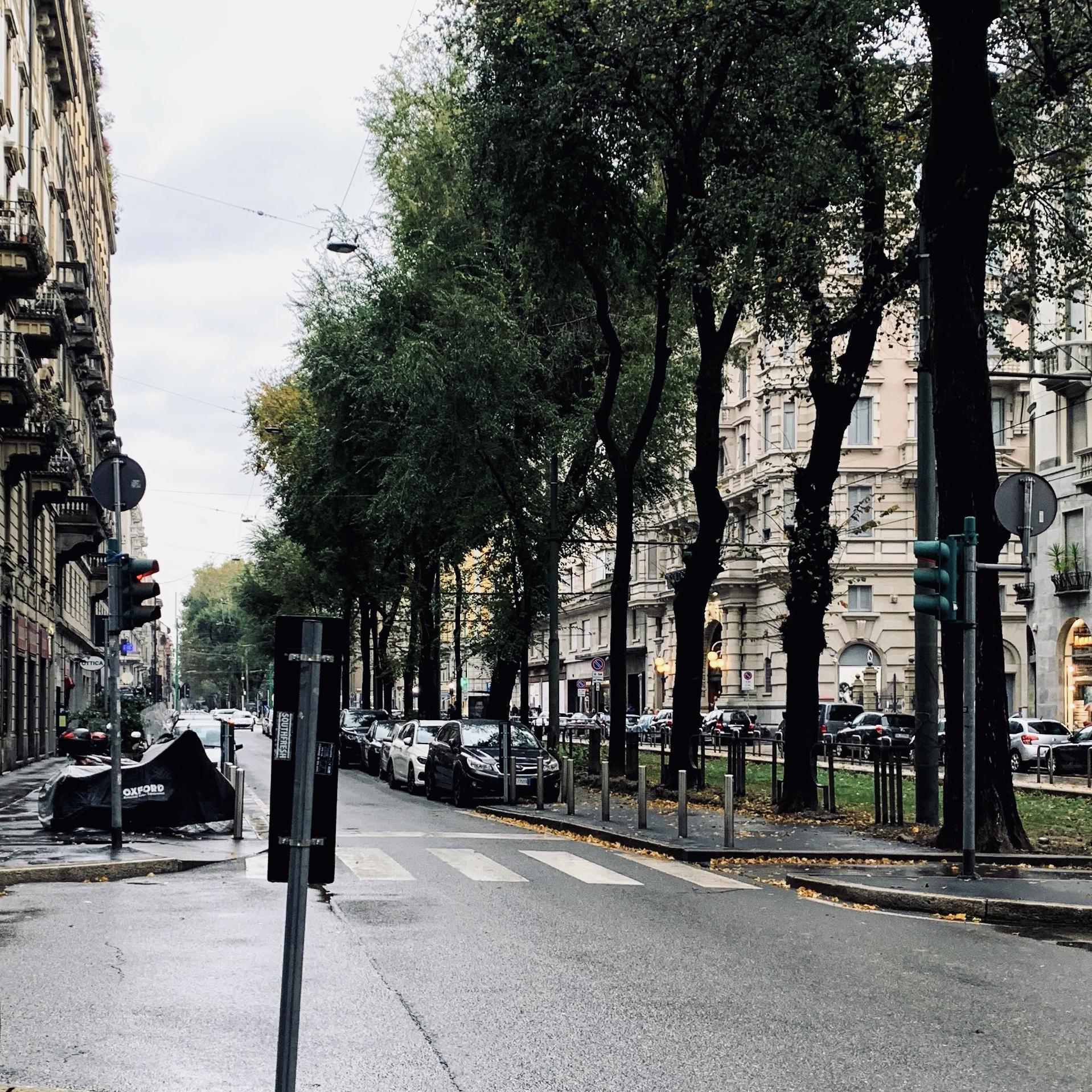 ミラノの風景 秋 冬