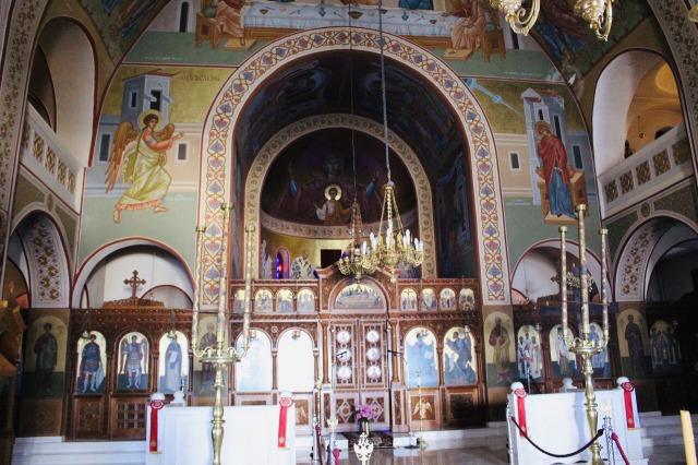 サントリーニ島 Cathedral Church Of Candlemas Of The Lord 教会内