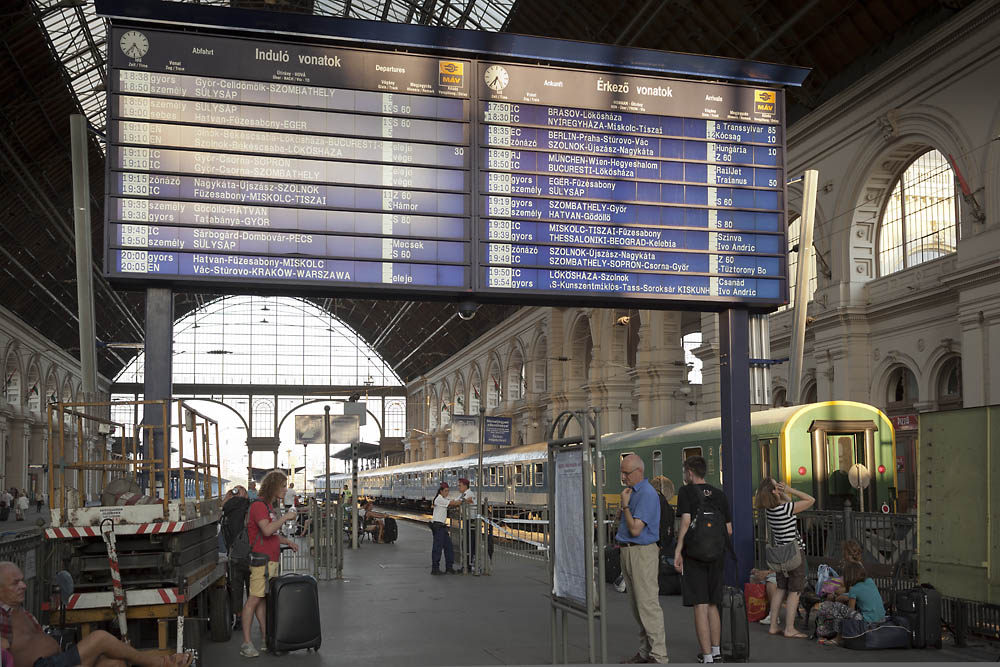 ブダペストからぺーちまで列車