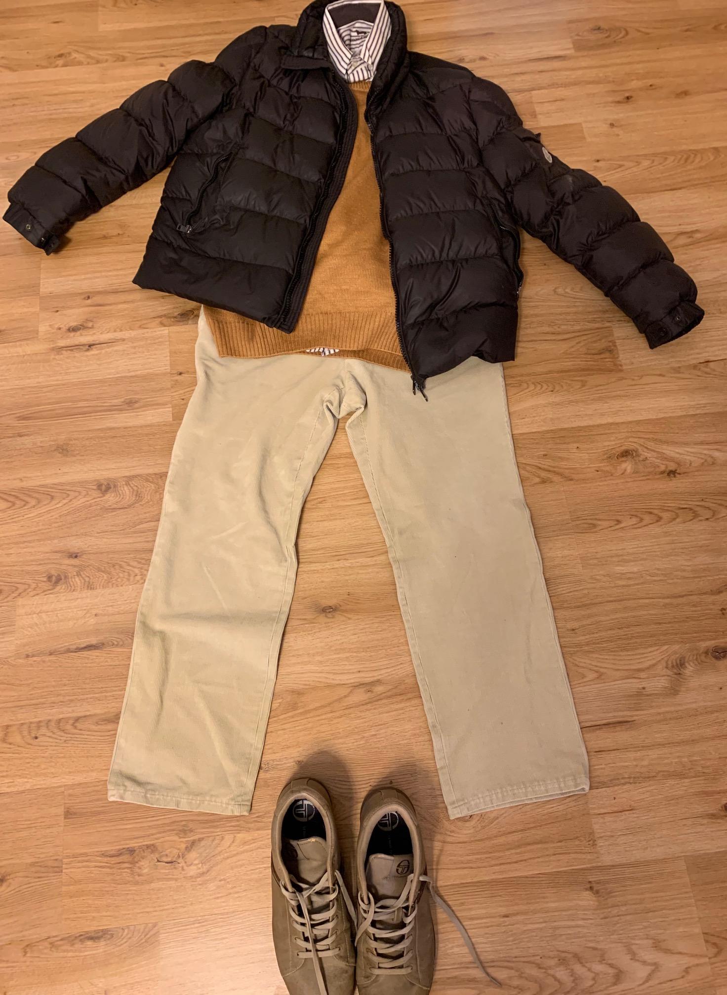 ミラノの冬の服装 メンズ