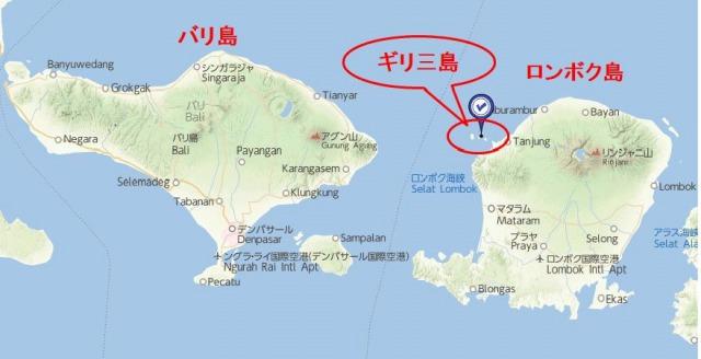 ロンボク島地図
