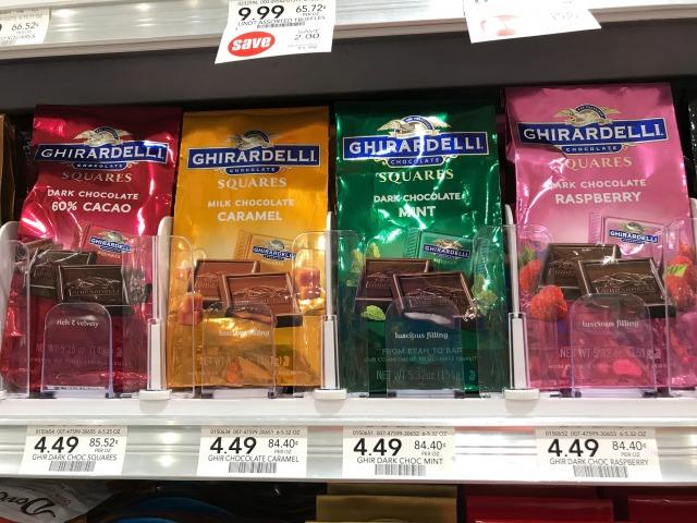 ギラデリのチョコレート各種