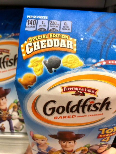 スナック菓子のゴールドフィッシュ・トイ・ストーリーバージョン