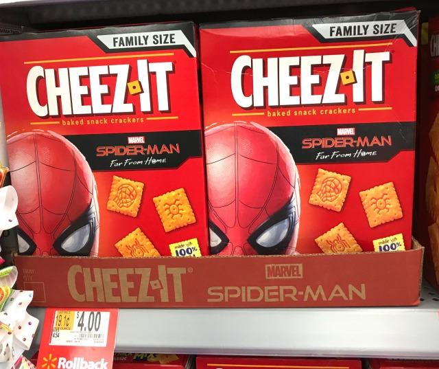 スナック菓子のチーズイット・スパイダーマンのバージョン
