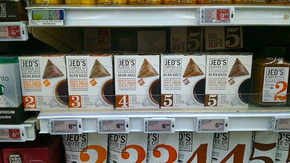 Jed's coffee in New world
