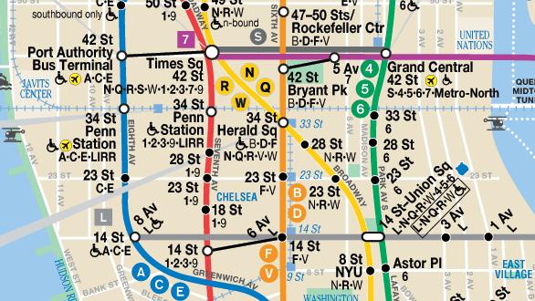 ニューヨーク地下鉄の路線図