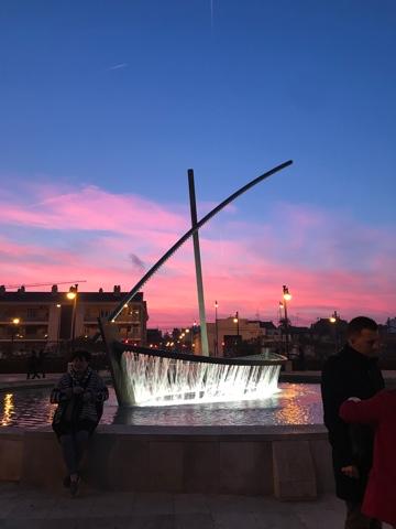バレンシアの夕暮れ