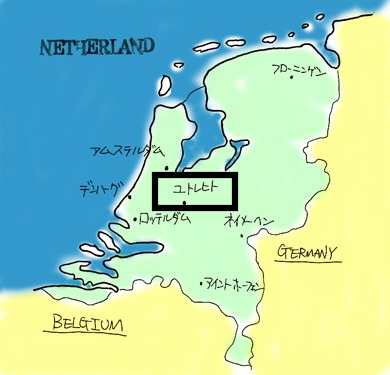 オランダ地図