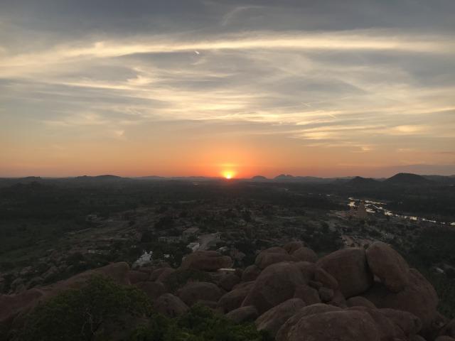 マタンガ丘からの夕焼け