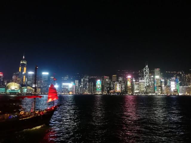 広東料理の本場 香港の夜景