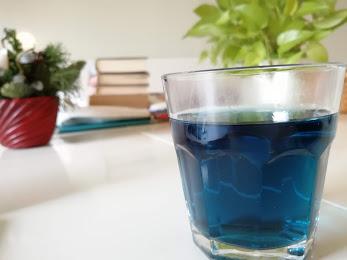 上海の青いお茶