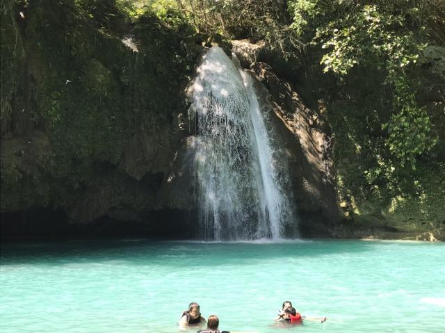 セブ島のカワサンの滝