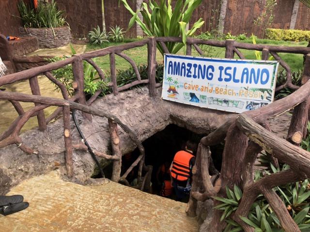 カモテス島のamazing cave