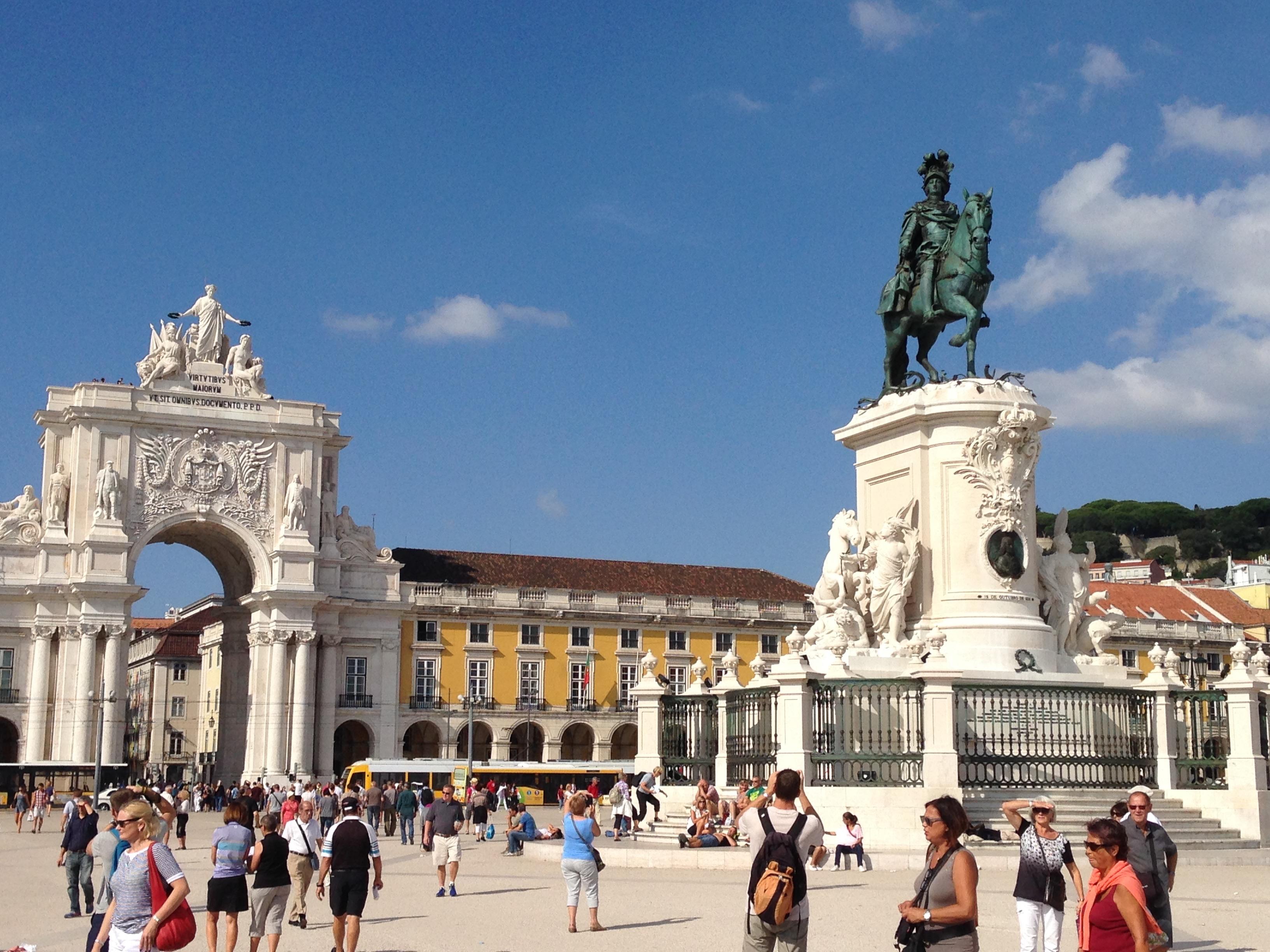 リスボンの中心に位置するTerreiro do Paço