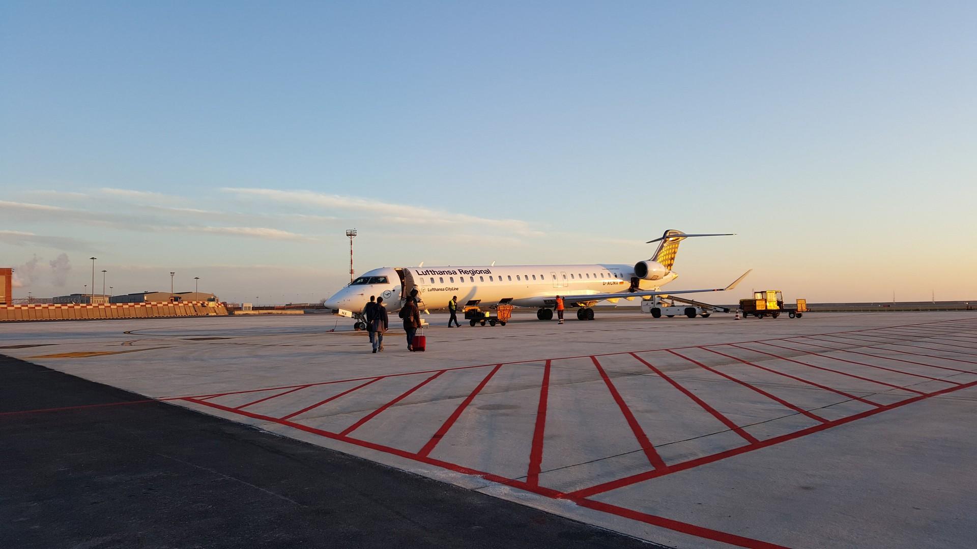 Lufthansaの飛行機
