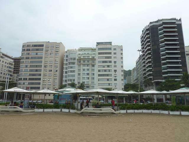 リオのコパカバーナビーチ沿いにあるホテル