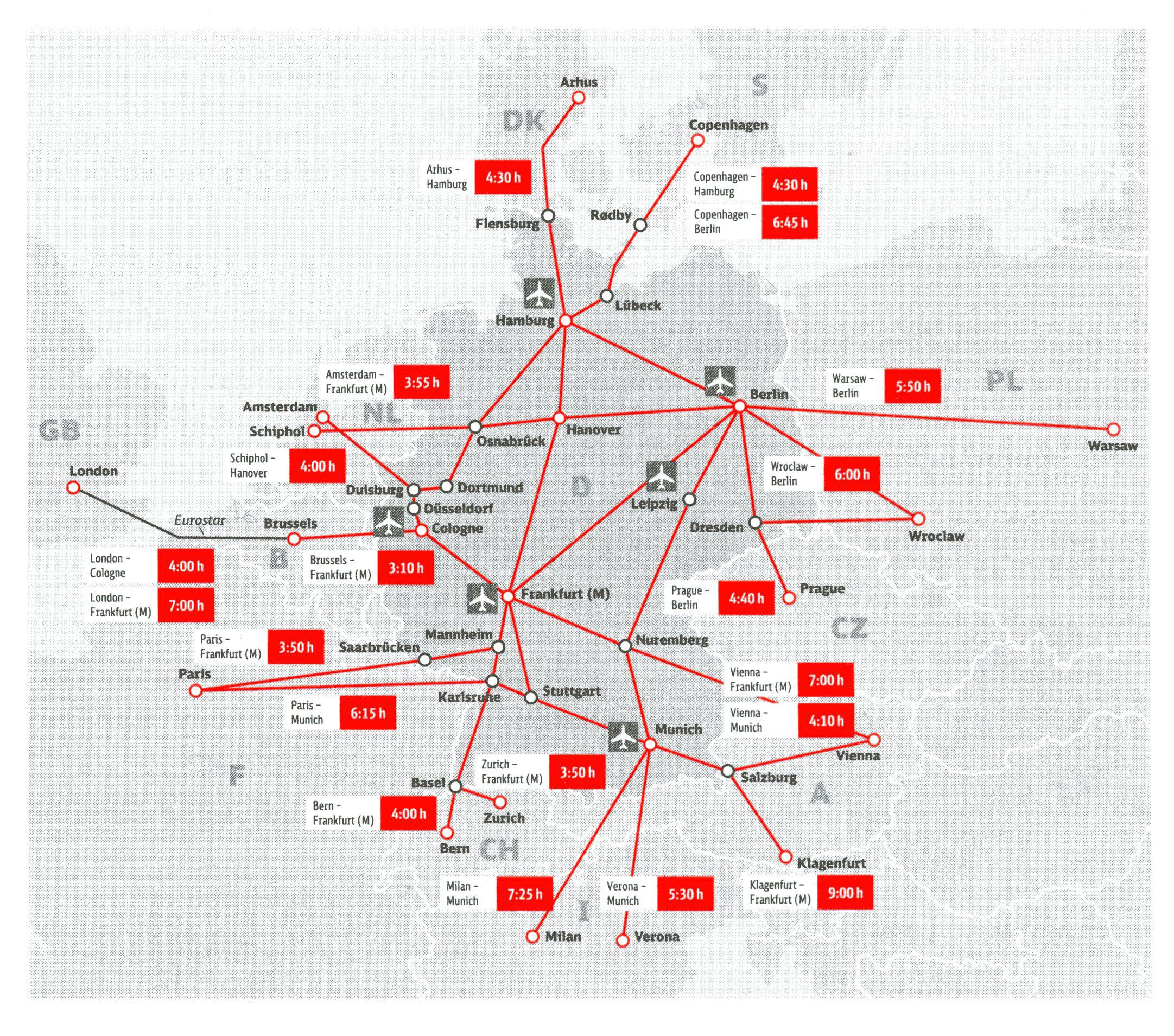 ドイツ国内と隣国への移動