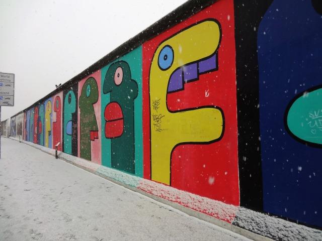冬のベルリンの壁