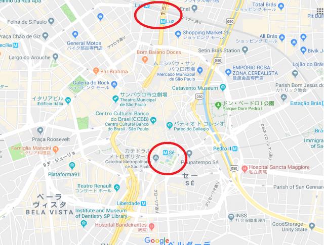 サンパウロ 地図 中心部