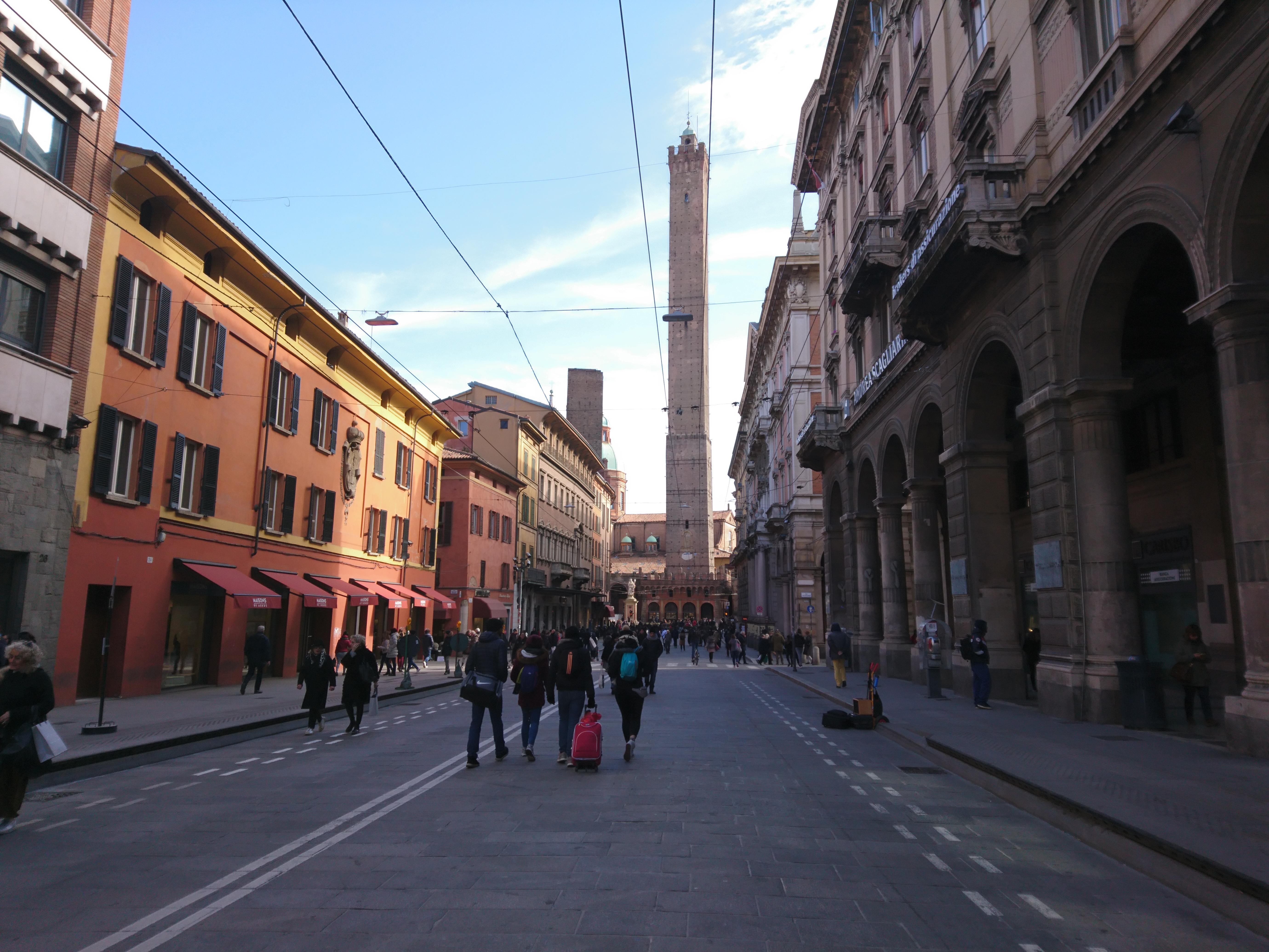 ボローニャの街並み