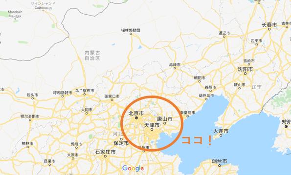 天津の地図