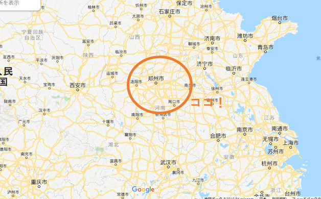 鄭州の地図