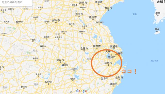 杭州の地図