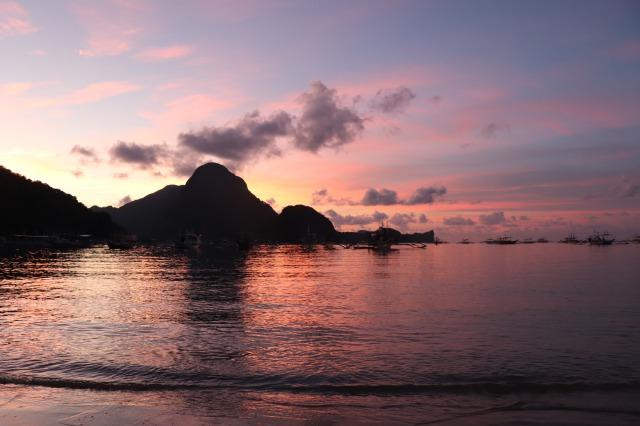 パラワン島エルニドのサンセット