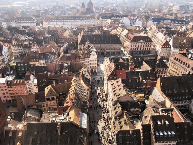 ストラスブール大聖堂からの眺め
