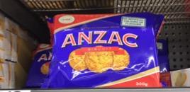 オーストラリア定番アンザッククッキー