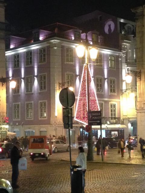 リスボンの観光中心地であるBaixa地区