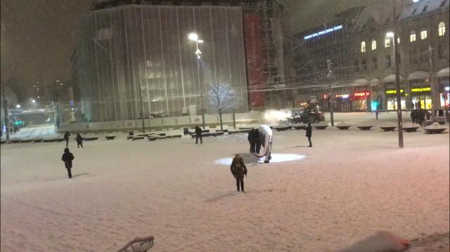雪のオスロ