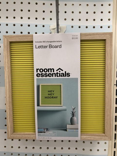 黄色のレターボード