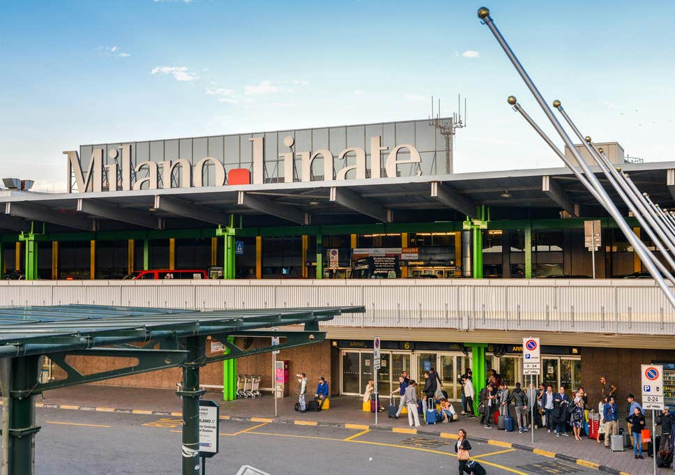ミラノ・リテーナ空港を正面から