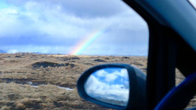 レンタカーの窓から見える絶景