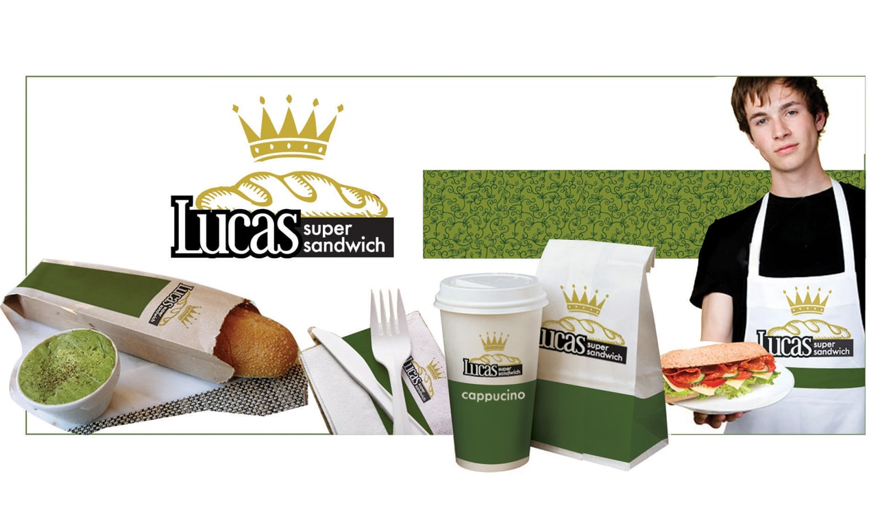 Lucas Super Sandwich - Materiale branding