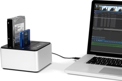OWC Drive Dock with MacBook Pro