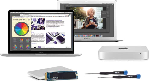 OWC Aura N Upgrade Kit with MacBook Pro, MacBook Air, and Mac mini