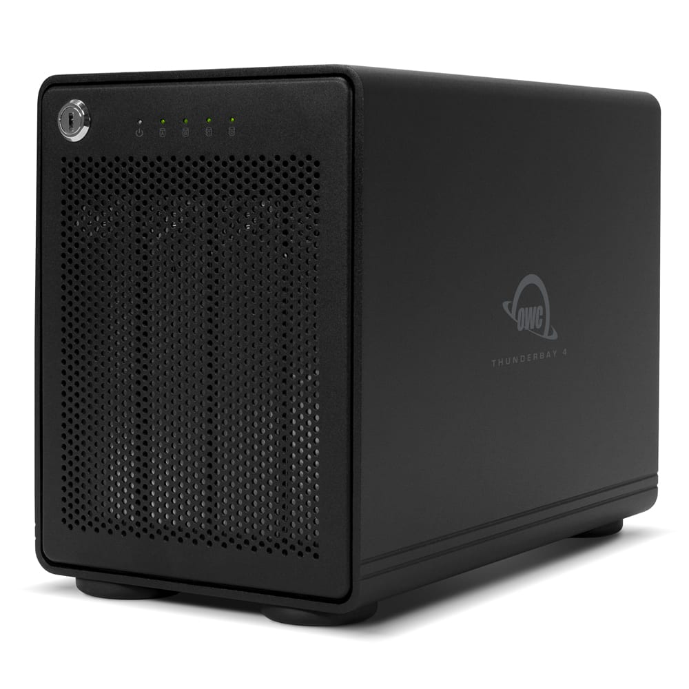 OWC ThunderBay 4 with Thunderbolt 3 Left