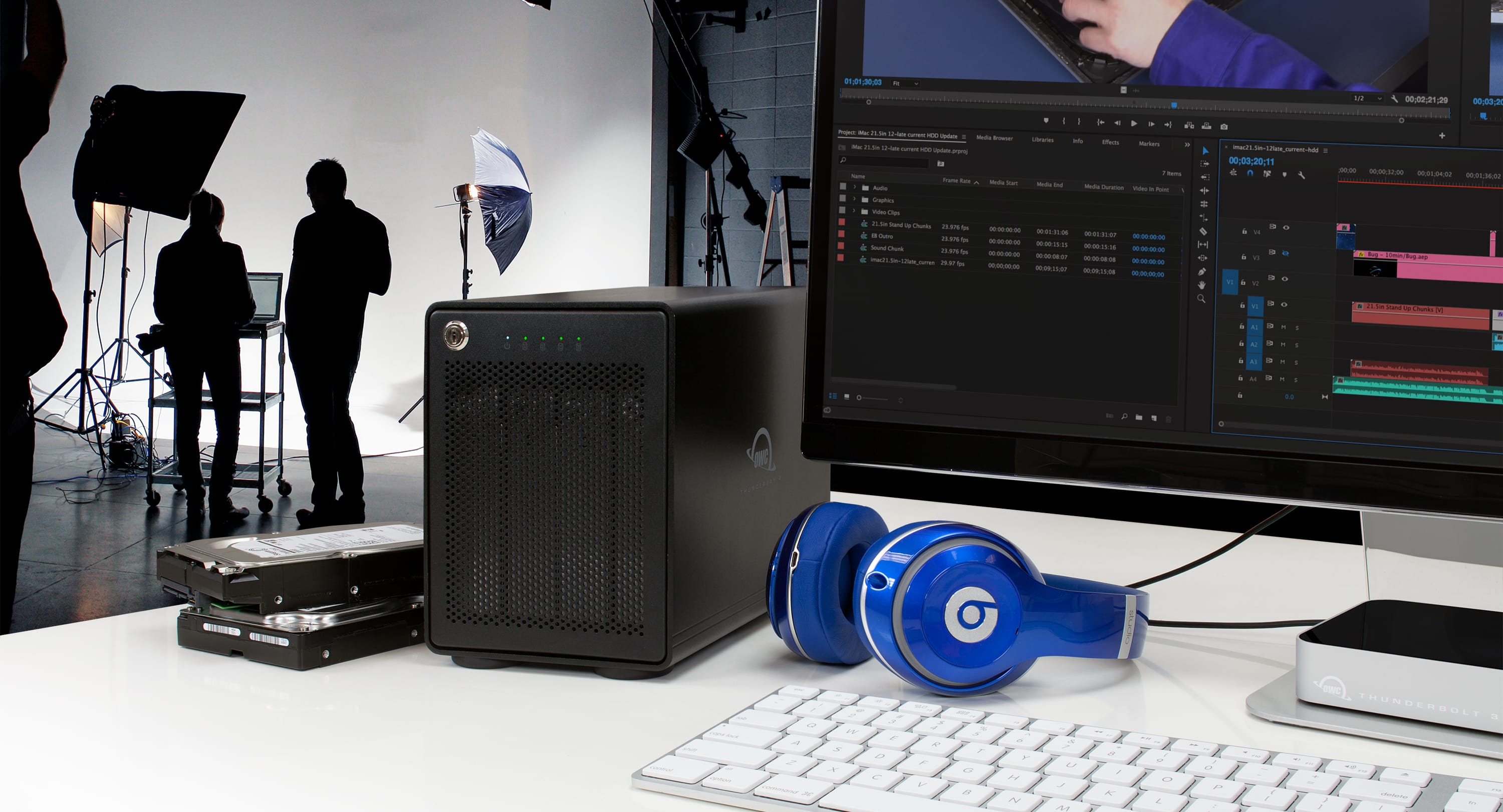 OWC ThunderBay 4 with Thunderbolt 2 in Photography Workstation