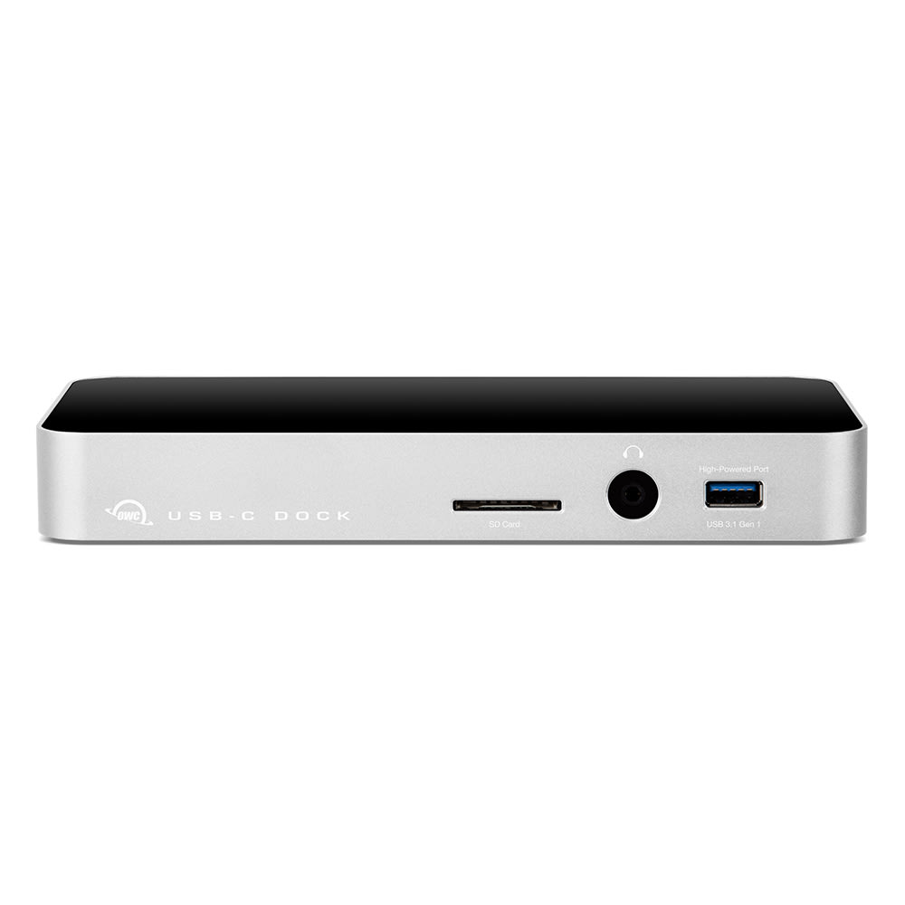 OWC 10-Port USB-C Dock in Silver Front