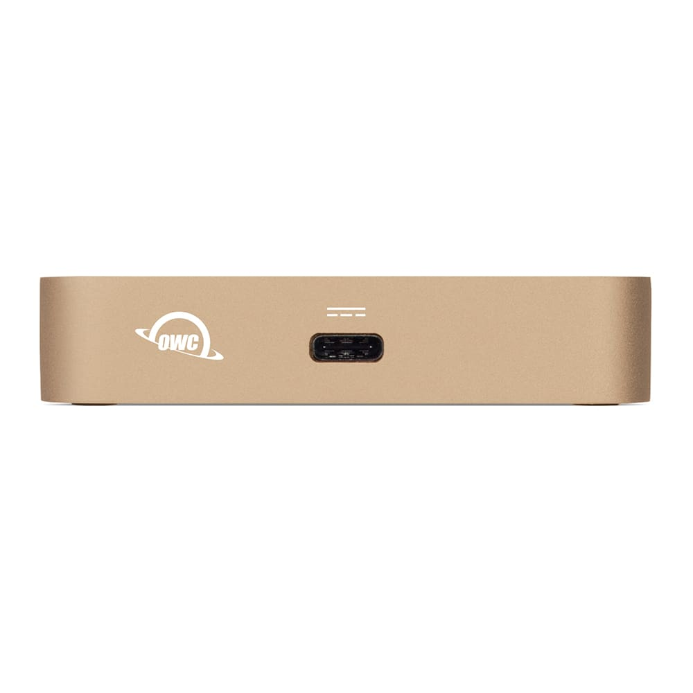 OWC USB-C Travel Dock in Gold Front