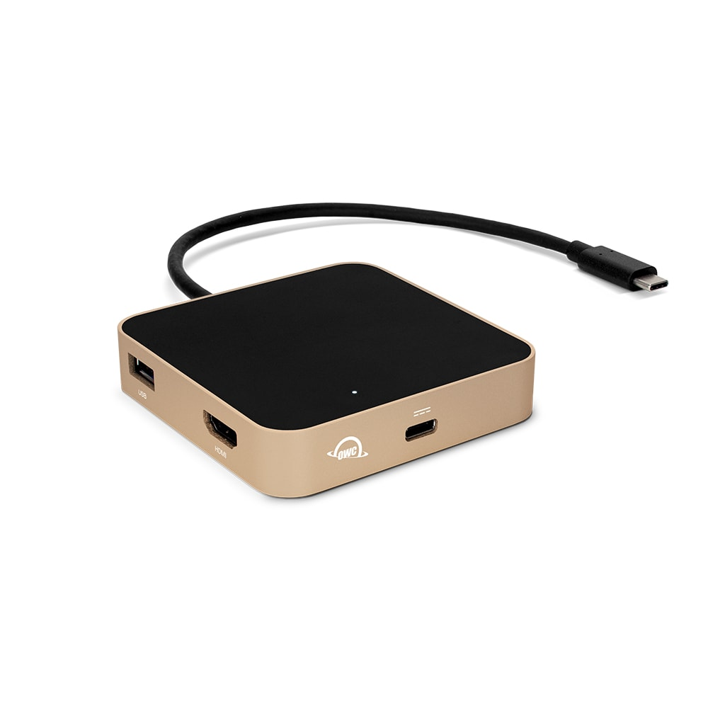 OWC USB-C Travel Dock in Gold