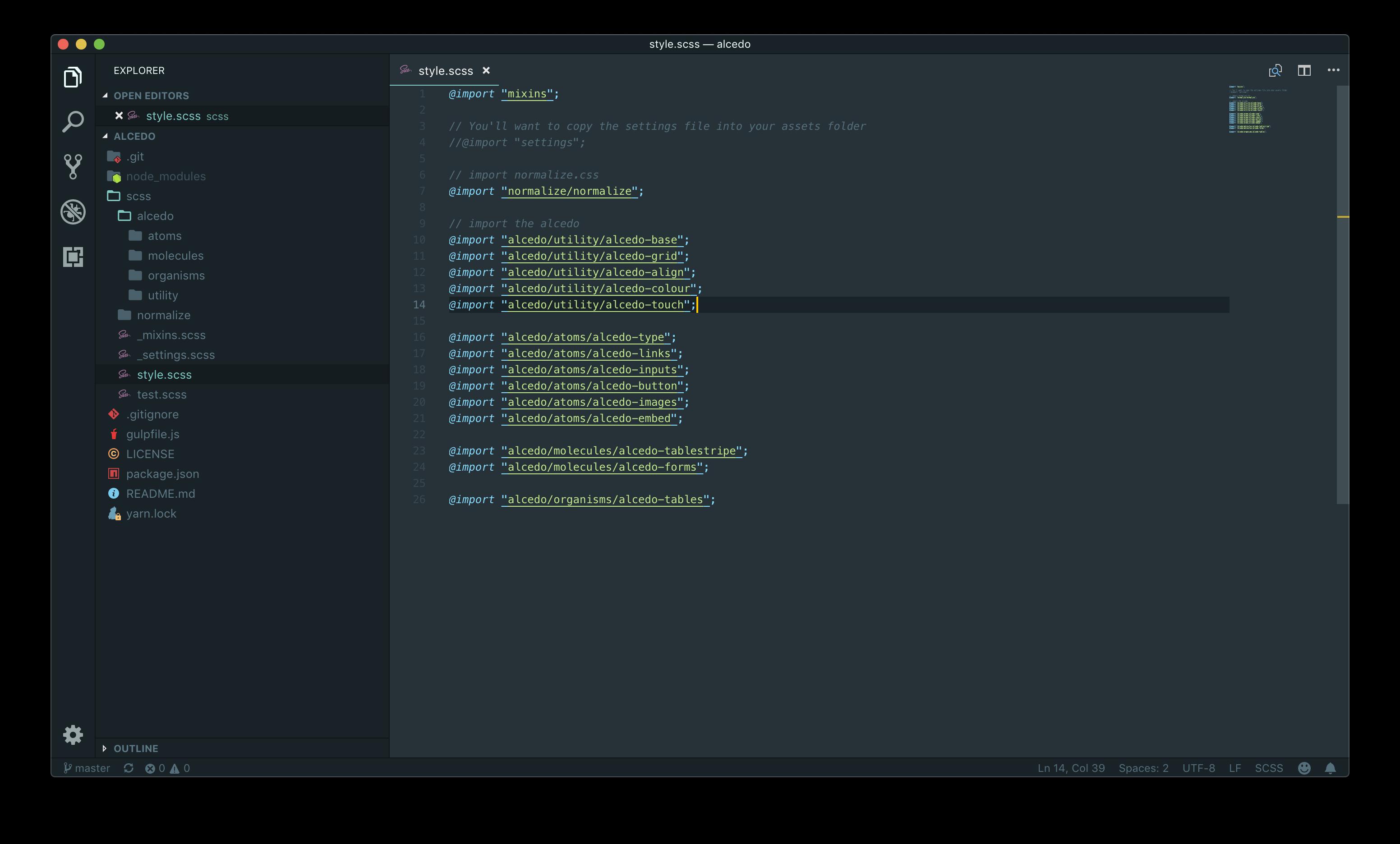 Alcedo Starter Framework